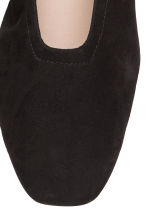Suede court shoes - Black - Ladies | H&M CN 3