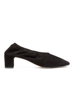 Suede court shoes - Black - Ladies | H&M CN 1