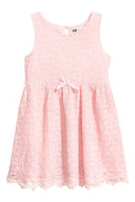 Sleeveless lace dress - Light pink - Kids | H&M 2