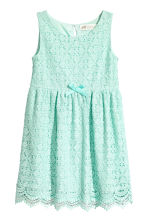 Sleeveless lace dress - Mint green - Kids | H&M CN 2