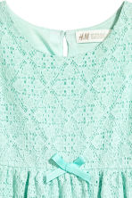 Sleeveless lace dress - Mint green - Kids | H&M CN 3