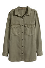 Lyocell Utility Shirt - Khaki green - Ladies | H&M CA 2