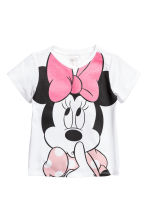 Camiseta con motivo estampado - Blanco/Minnie Mouse -  | H&M ES 1