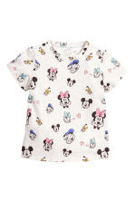 Printed jersey top - Light grey/Minnie Mouse - Kids | H&M 1