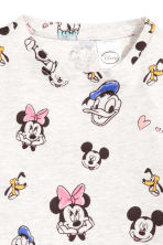 Printed jersey top - Light grey/Minnie Mouse - Kids | H&M 2