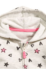 Patterned hooded jacket - Light grey -  | H&M 2