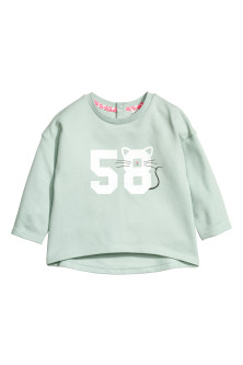 Sweatshirt with a print motif