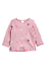 2-pack long-sleeved tops - White/Birds -  | H&M 2