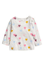 2-pack long-sleeved tops - Pink/Hearts -  | H&M 2