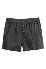 3-pack woven boxers - Black/Checked - Men | H&M 3