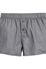 3-pack woven boxers - Black/Checked - Men | H&M CN 4