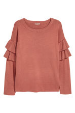 H&M+ Flounced knitted jumper - Rust red - Ladies | H&M 2