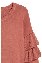H&M+ Flounced knitted jumper - Rust red - Ladies | H&M 3