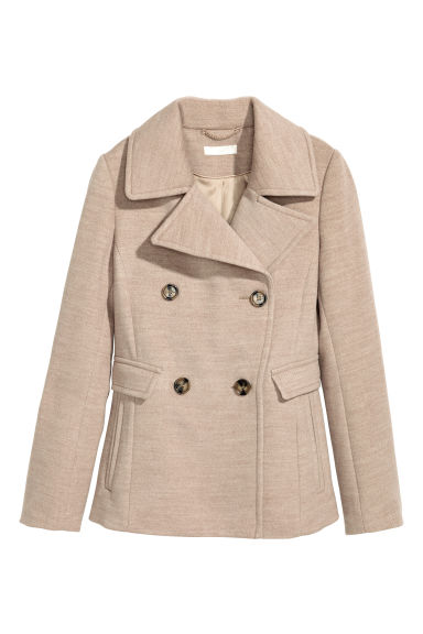 Pea coat - Beige - Ladies | H&M CN