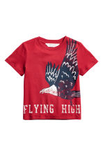 Printed T-shirt - Red -  | H&M CN 2
