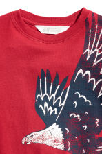 Printed T-shirt - Red -  | H&M CN 3
