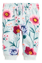 Joggers - Turquoise/Floral -  | H&M 1