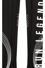 Leggings sportivi - Nero -  | H&M IT 3