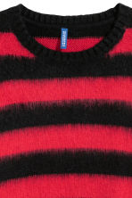 Knitted jumper - Red/Black striped - Men | H&M 3