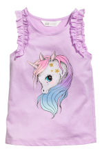 Sleeveless jersey top - Purple/Unicorn - Kids | H&M 2