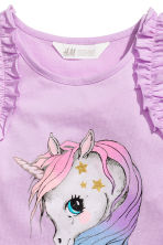 Sleeveless jersey top - Purple/Unicorn - Kids | H&M 3