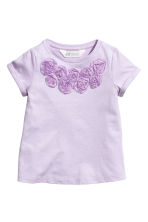 Jersey top with sequins - Purple - Kids | H&M 2