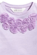 Jersey top with sequins - Purple - Kids | H&M 3