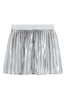 Shimmering metallic skirt