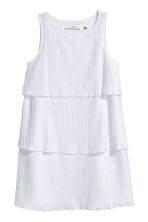 Pleated tiered dress - White -  | H&M 2
