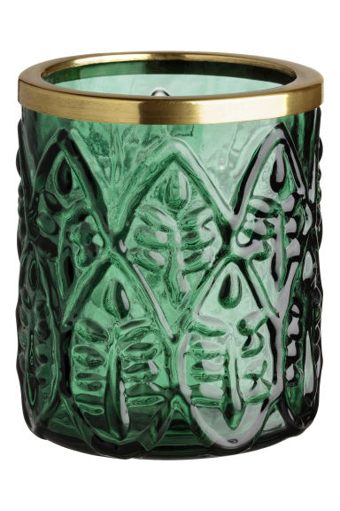Tealight holder - Dark green - Home All | H&M CA 1