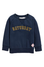 Cotton piqué top - Dark blue - Kids | H&M 2