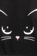 Printed sweatshirt - Black/Cat - Kids | H&M CN 3