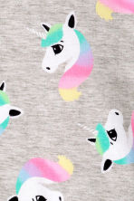 Printed sweatshirt - Grey/Unicorn - Kids | H&M 3