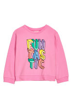 Sweat avec impression - Rose/scintillant - ENFANT | H&M FR 2