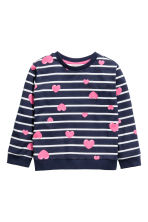 圖案運動衫 - Dark blue/Hearts - Kids | H&M 2