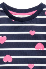 圖案運動衫 - Dark blue/Hearts - Kids | H&M 3