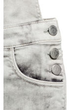 Dungaree shorts - Grey washed out - Kids | H&M 3