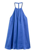 Satin dress with studs - Cornflower blue - Ladies | H&M 2
