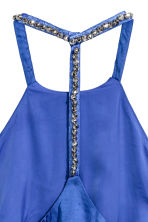 Satin dress with studs - Cornflower blue - Ladies | H&M 3