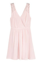 Crêpe chiffon dress - Light pink - Ladies | H&M 2