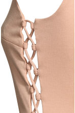 Body with lacing - Powder beige - Ladies | H&M CN 3