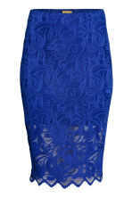 Gonna aderente in pizzo - Blu fiordaliso - DONNA | H&M IT 2