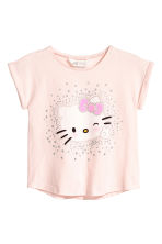 Tricot top met print - Lichtroze/Hello Kitty - KINDEREN | H&M BE 2