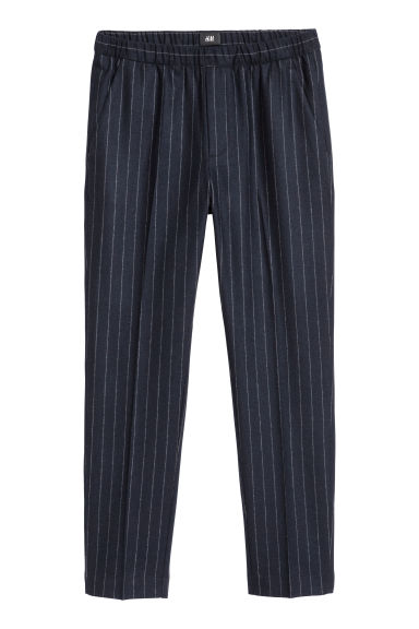 Suit trousers Slim fit - Dark blue/White striped -  | H&M