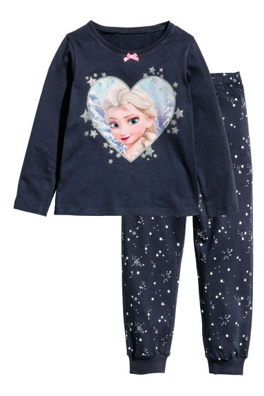 Jersey pyjamas - Dark blue/Frozen -  | H&M 1
