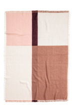 Block-patterned blanket - Pink/Patterned - Home All | H&M IE 2