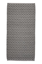 Jacquard-weave cotton rug - White/Anthracite - Home All | H&M CN 1