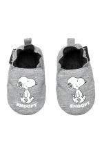 Soft slippers - Grey/Snoopy - Kids | H&M CN 1