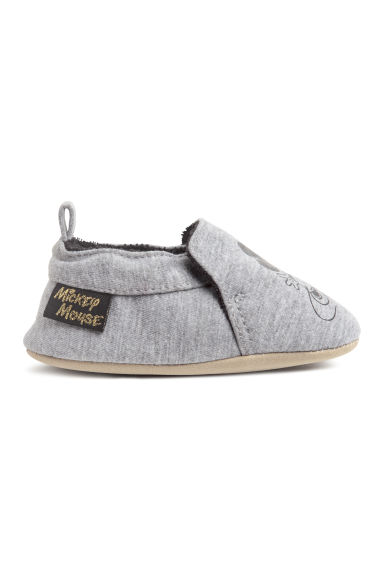 Soft slippers - Grey marl/Mickey Mouse -  | H&M CN 1