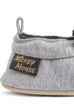 Soft slippers - Grey marl/Mickey Mouse -  | H&M CN 3